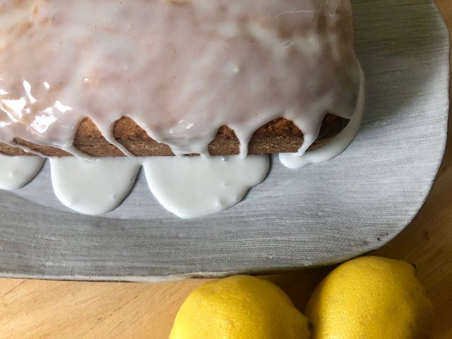 Luscious Lemon Cake -- Rich, moist, luscious lemon cake that you can quickly make with pantry ingredients and a couple lemons and have a dessert you'll be proud to serve to family or guests. | thatwhichnourishes.com