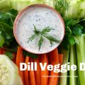 Dill Veggie Dip -- It's easy to whip up homemade vegetable dip with just a handful of fresh and flavorful ingredients. See ya, store-bought! | thatwhichnourishes.com