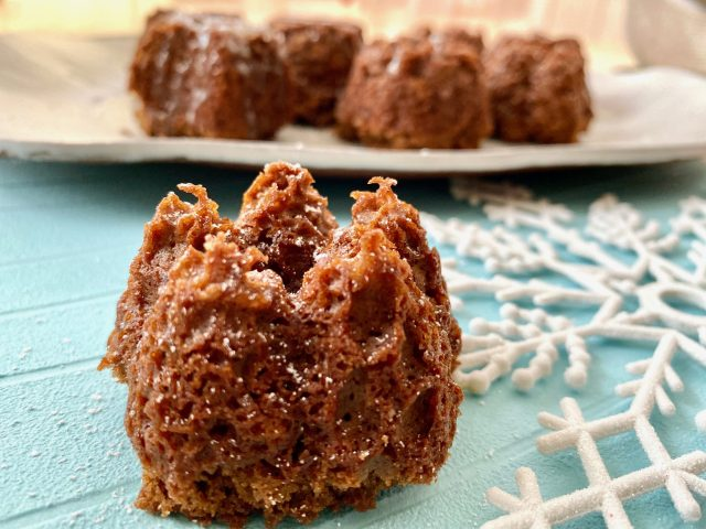 Mini Gingerbread Bundt Cakes -- Pretty little moist, ginger-packed and spice-filled cakes are just what you crave during the holiday season. | thatwhichnourishes.com