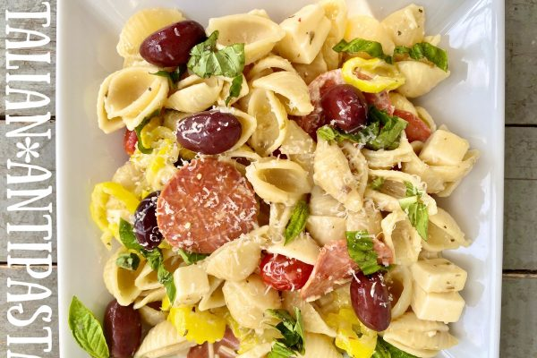 Italian Antipasta -- because it's all of the spicy flavors you love in an Italian salad wrapped into one Antipasto pasta! | thatwhichnourishes.com
