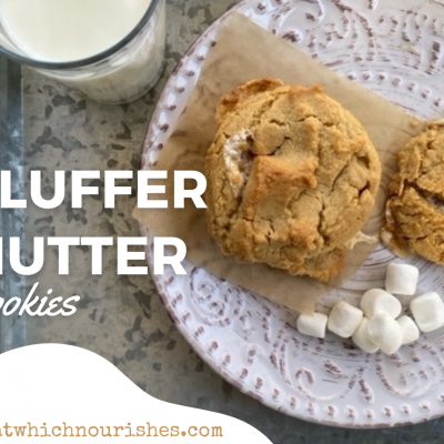 Fluffernutter Cookies -- Are these the best cookie you'll ever have? It is quite likely. You know you want this perfectly textured peanut buttery cookie with caramelized, chewy edges and puddles of gooey marshmallows. | thatwhichnourishes.com